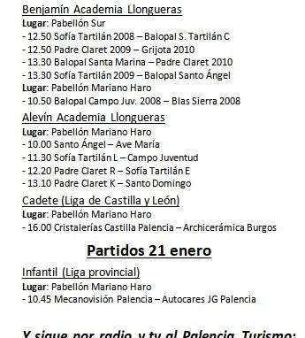 Partidos 20 y 21 enero